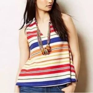 Anthro Postmark Monterey Striped Swing Tank Top S